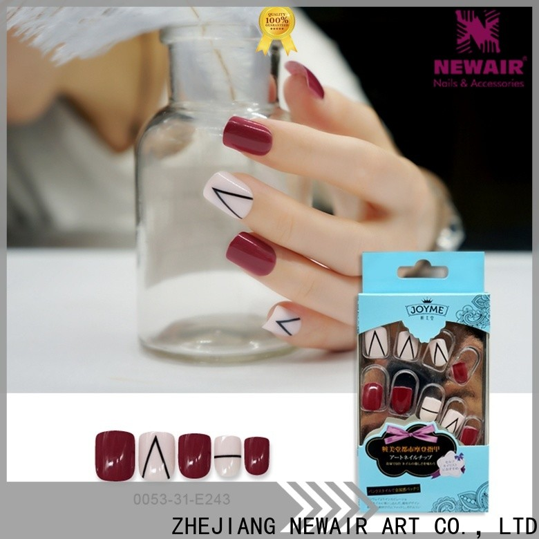 Newair Fake Nails luxurious artificial nails kit from China for bride