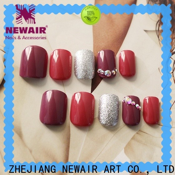 Newair Fake Nails green coffin press on nails manufacturer for lady