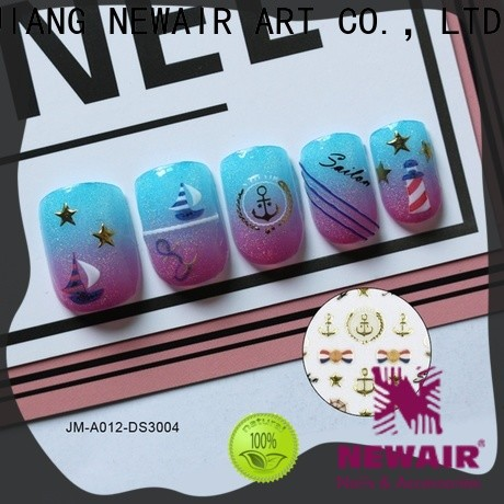 Newair Fake Nails fingernail decals stickers design for girl