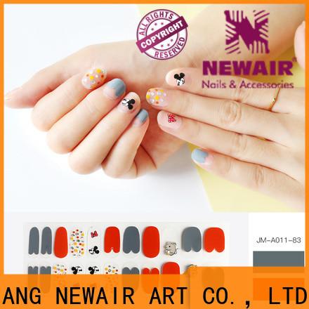 Newair Fake Nails orange incoco nail polish strips factory price for women