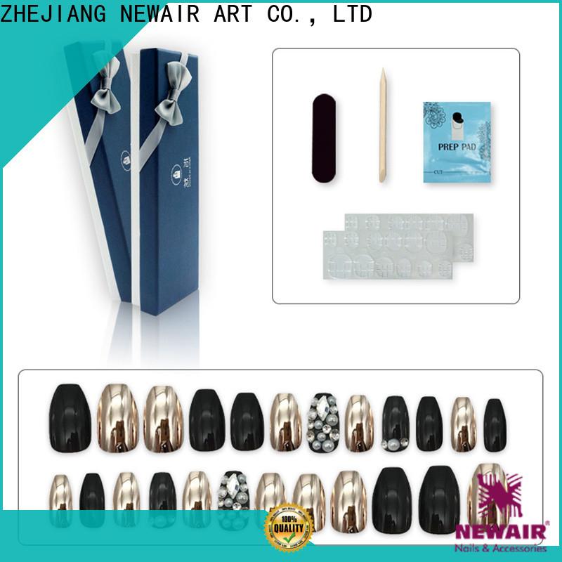 Newair Fake Nails long fake nails customized for bride