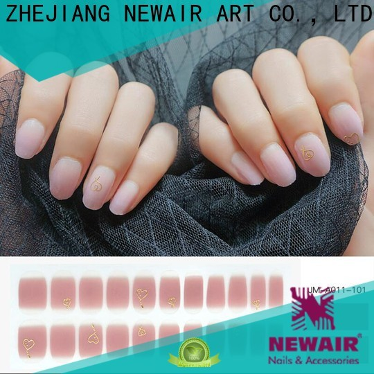 Newair Fake Nails grey sally hansen salon effects real nail polish strips factory price for gifts