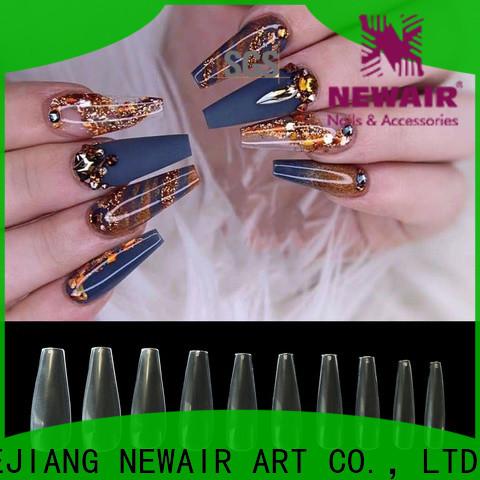 natural color false nail art tips
