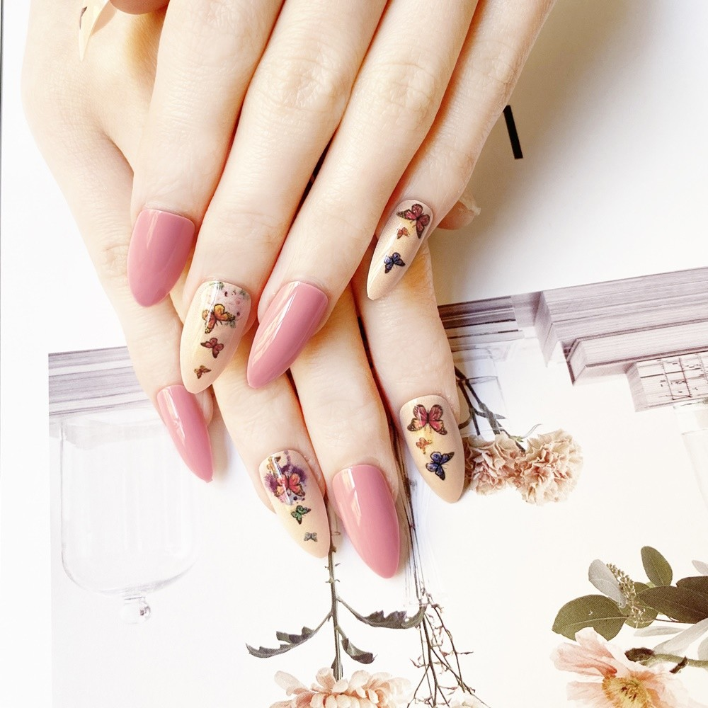2021 NEW ARRIVED FASHION COLORFUL PRINTING STILETTO NAIL