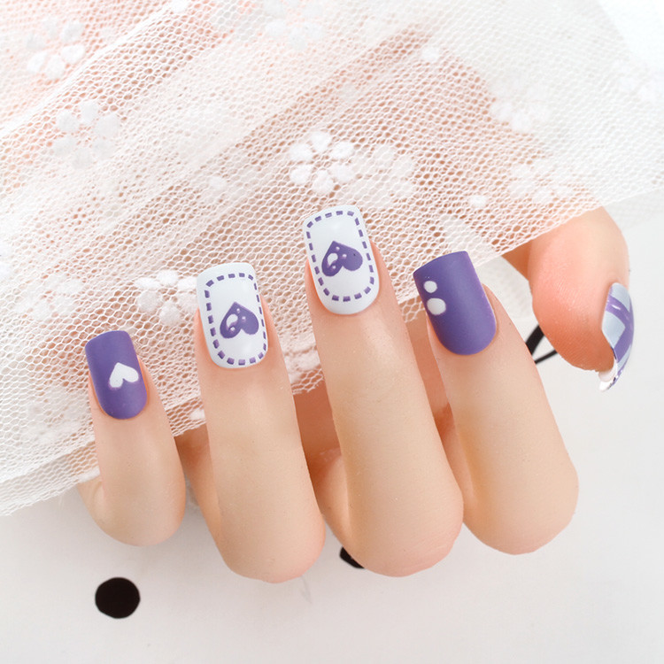 2021 fashion Square Nails in the exquisite packing box with ribbon hanger and silky touch