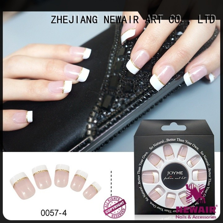 Newair Fake Nails white press on nails series for lady