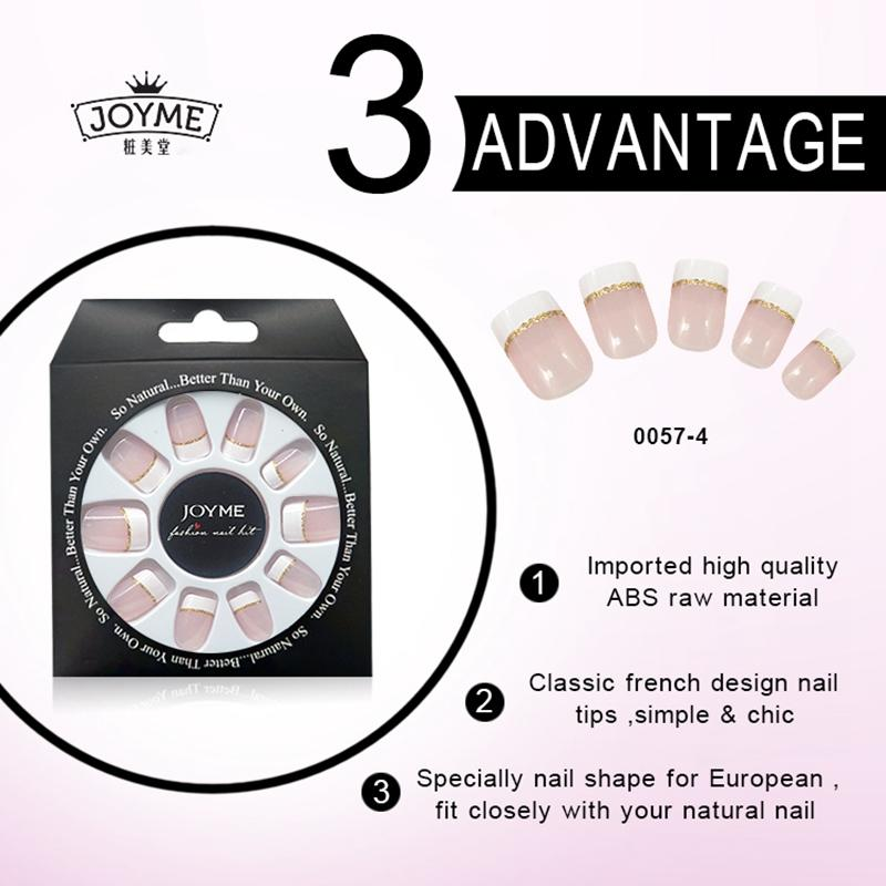 Newair Fake Nails white press on nails series for lady-2