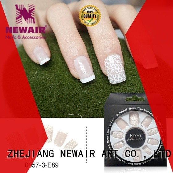 Newair Fake Nails shinning lee press on nails series for girls