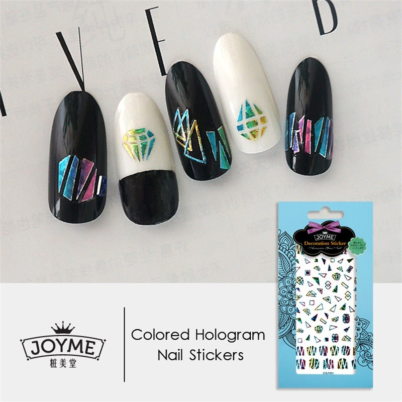 DIY colored hologram nail sticker-Diamond