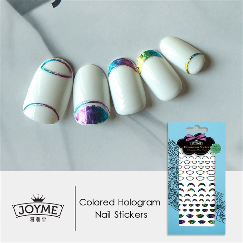 DIY colored nail sticker-French