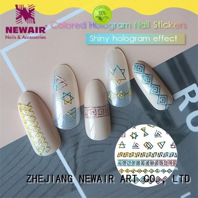 Newair Fake Nails 3d nail decals series for girl
