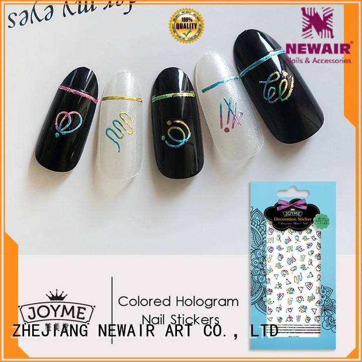 Newair Fake Nails 3d press on nail stickers directly sale for ladies