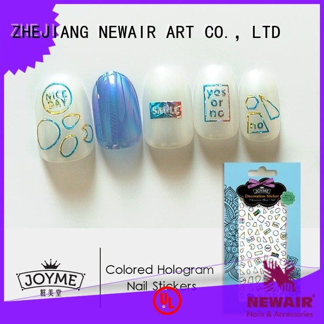 Newair Fake Nails gel flower nail stickers series for ladies